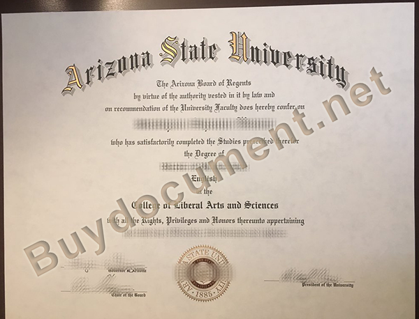 Arizona State University fake diploma, buy fake degree