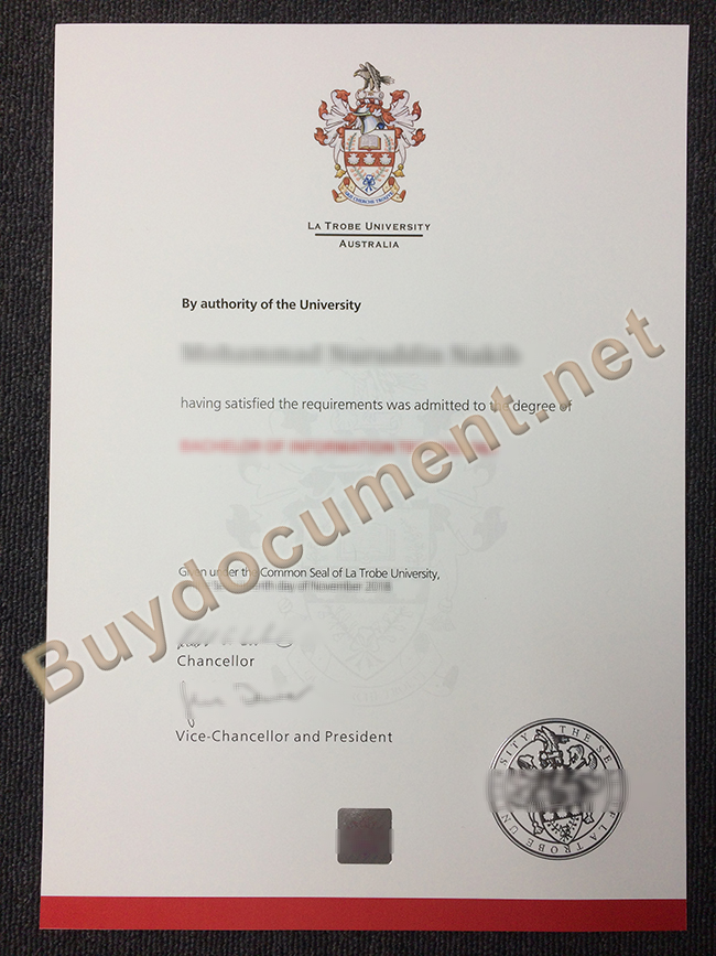 Fake La Trobe University Diploma, La Trobe University degree