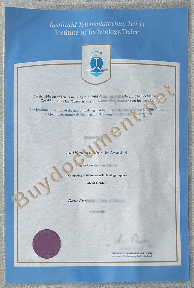 Institute of Technology, Tralee diploma, buy fake degree