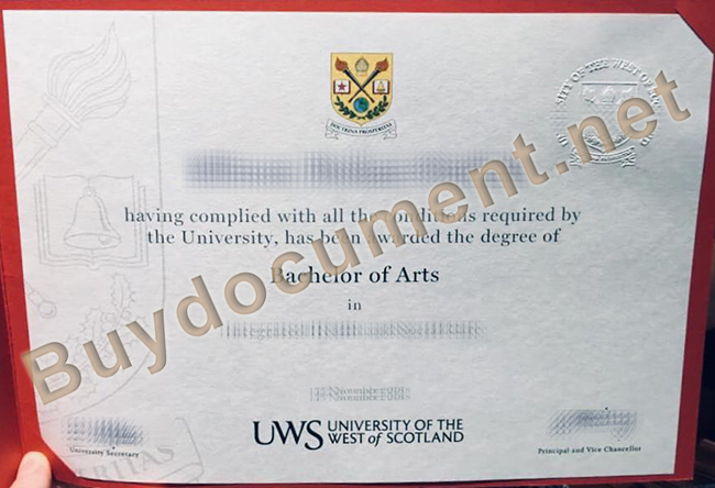 University of the West of Scotland diploma, buy UWS fake degree, buy fake diploma