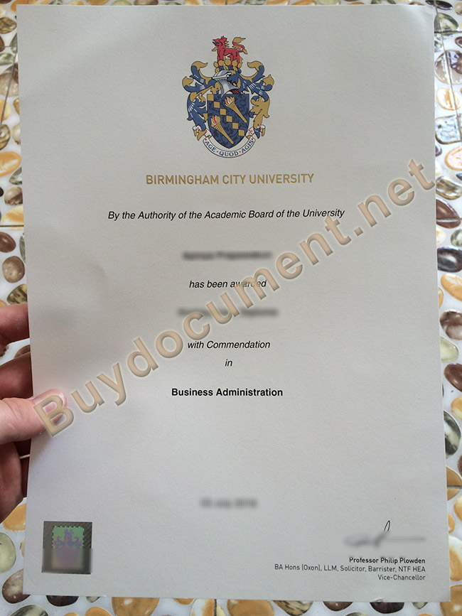 Birmingham City University diploma, Birmingham City University fake degree
