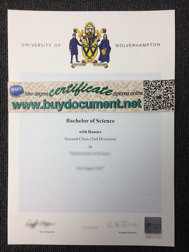 University of Wolverhampton diploma, fake University of Wolverhampton degree
