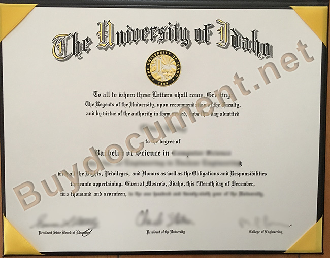 fake University of Idaho diploma, University of Idaho degree