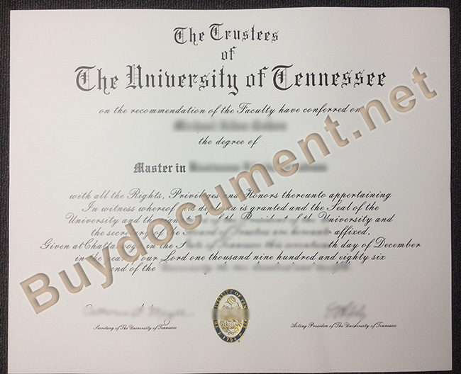 University of Tennessee diploma, fake University of Tennessee degree