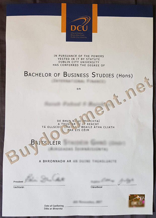 fake Dublin City University diploma, Dublin City University degree