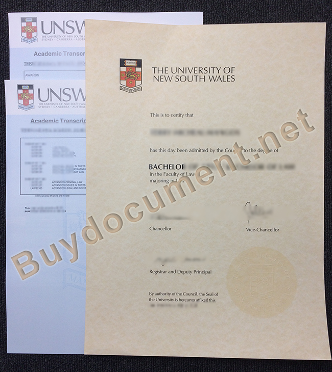University of New South Wales diploma,fake University of New South Wales degree
