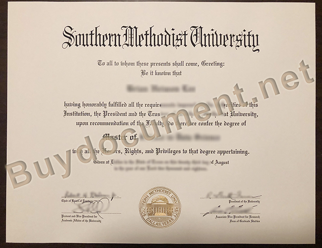 Southern Methodist University diploma, fake Southern Methodist University degree, buy fake diploma