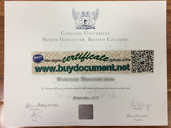 Capilano University diploma, Capilano University fake degree, buy fake certificate, fake transcript