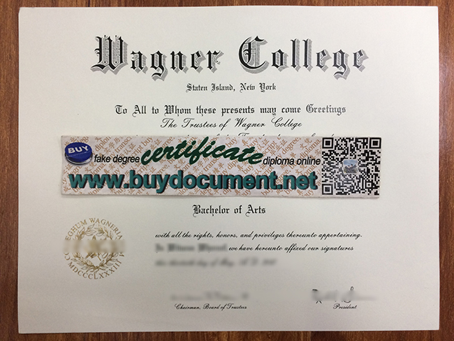 Wagner College diploma, fake Wagner College degree, buy fake USA diploma, fake certificate