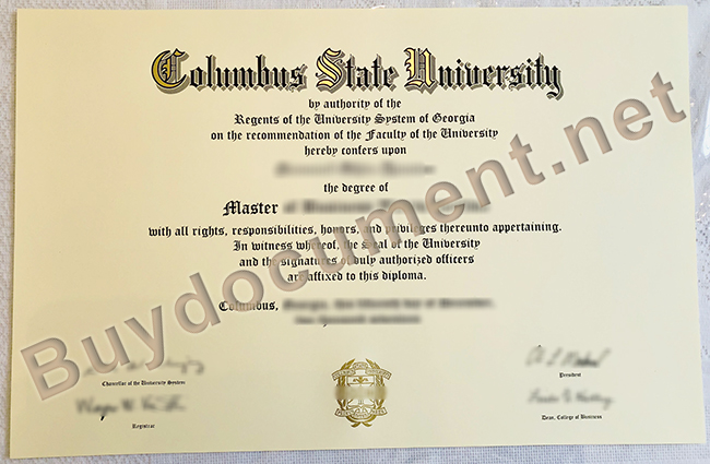 Columbus State University diploma, Columbus State University fake degree, fake certificate