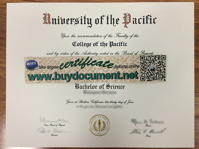 University of the Pacific diploma, University of the Pacific degree, fake certificate maker