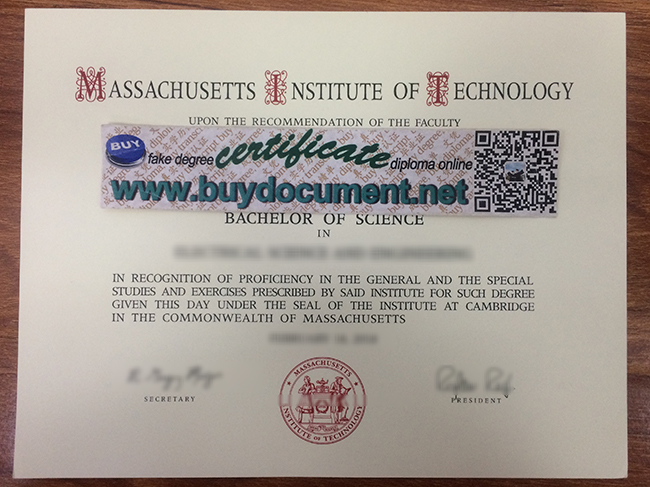 Massachusetts Institute of Technology diploma, fake MIT degree, fake certificate