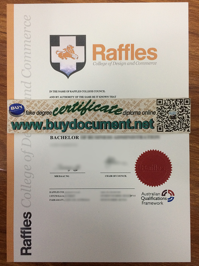 Raffles College of Design and Commerce diploma, Raffles College of Design and Commerce certificate