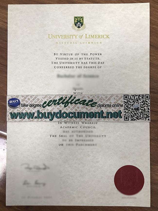 University of Limerick diploma, University of Limerick degree, buy fake certificate
