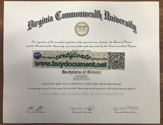 Virginia Commonwealth University diploma, fake VCU degree, fake VCU certificate